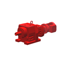 Helical gear motor with adapter